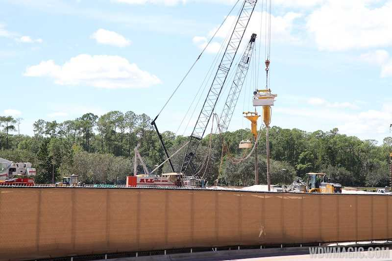 Foundations now being driven at Downtown Disney's parking garage