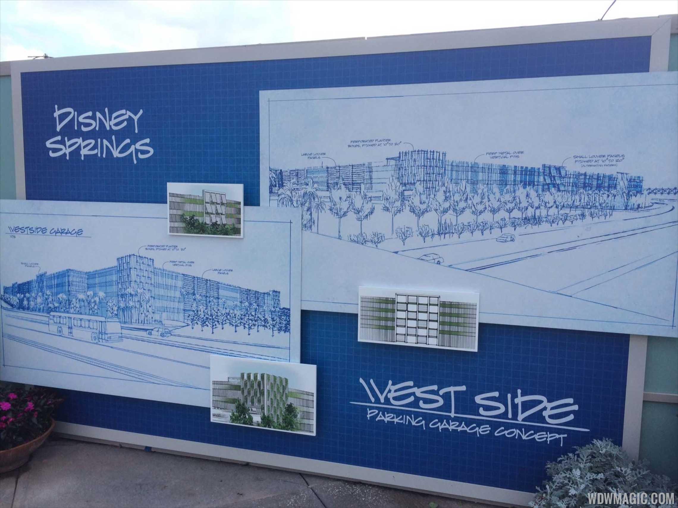 Disney Springs West Side parking Garage concept art
