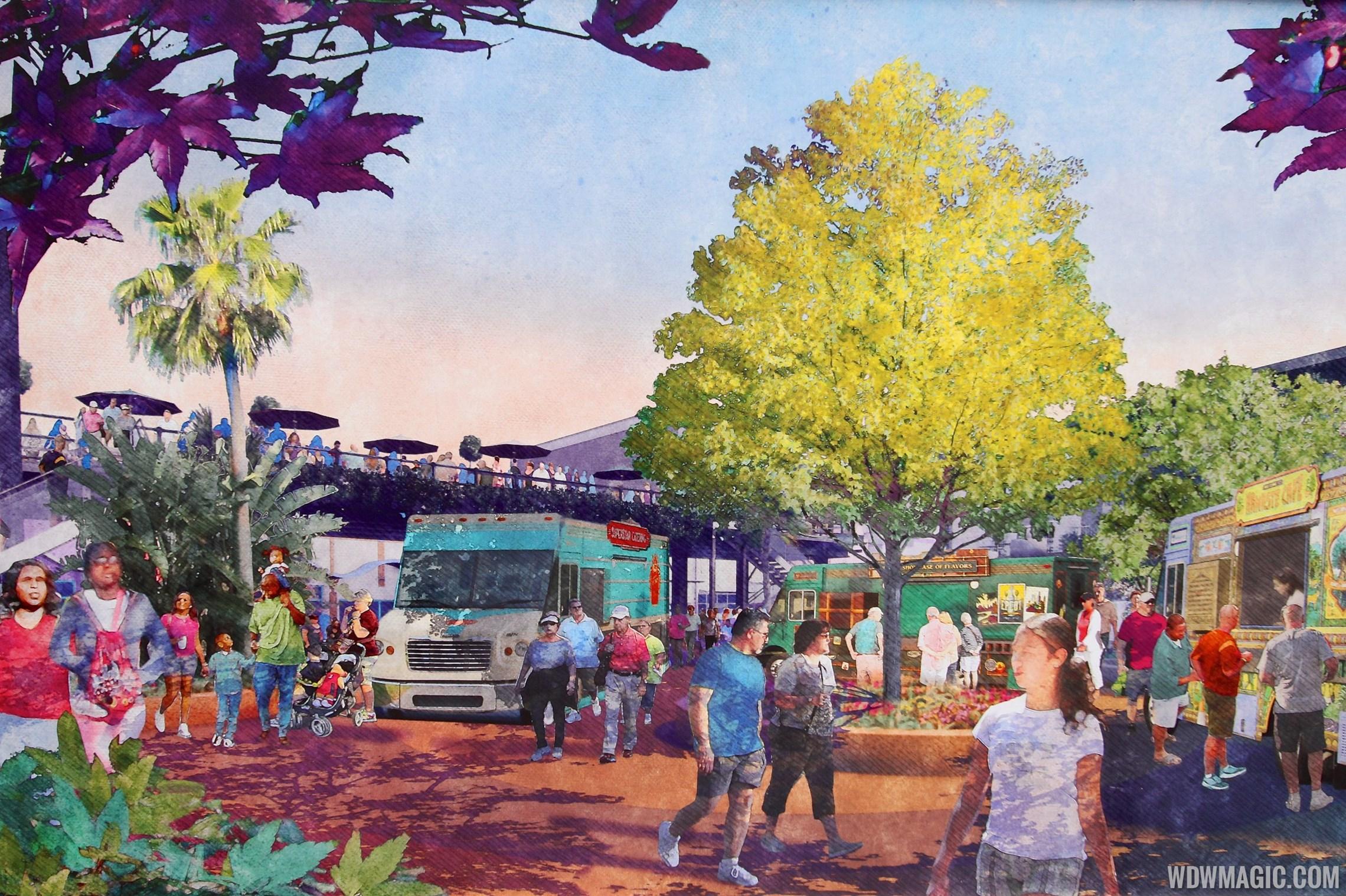 Food Truck Park concept art