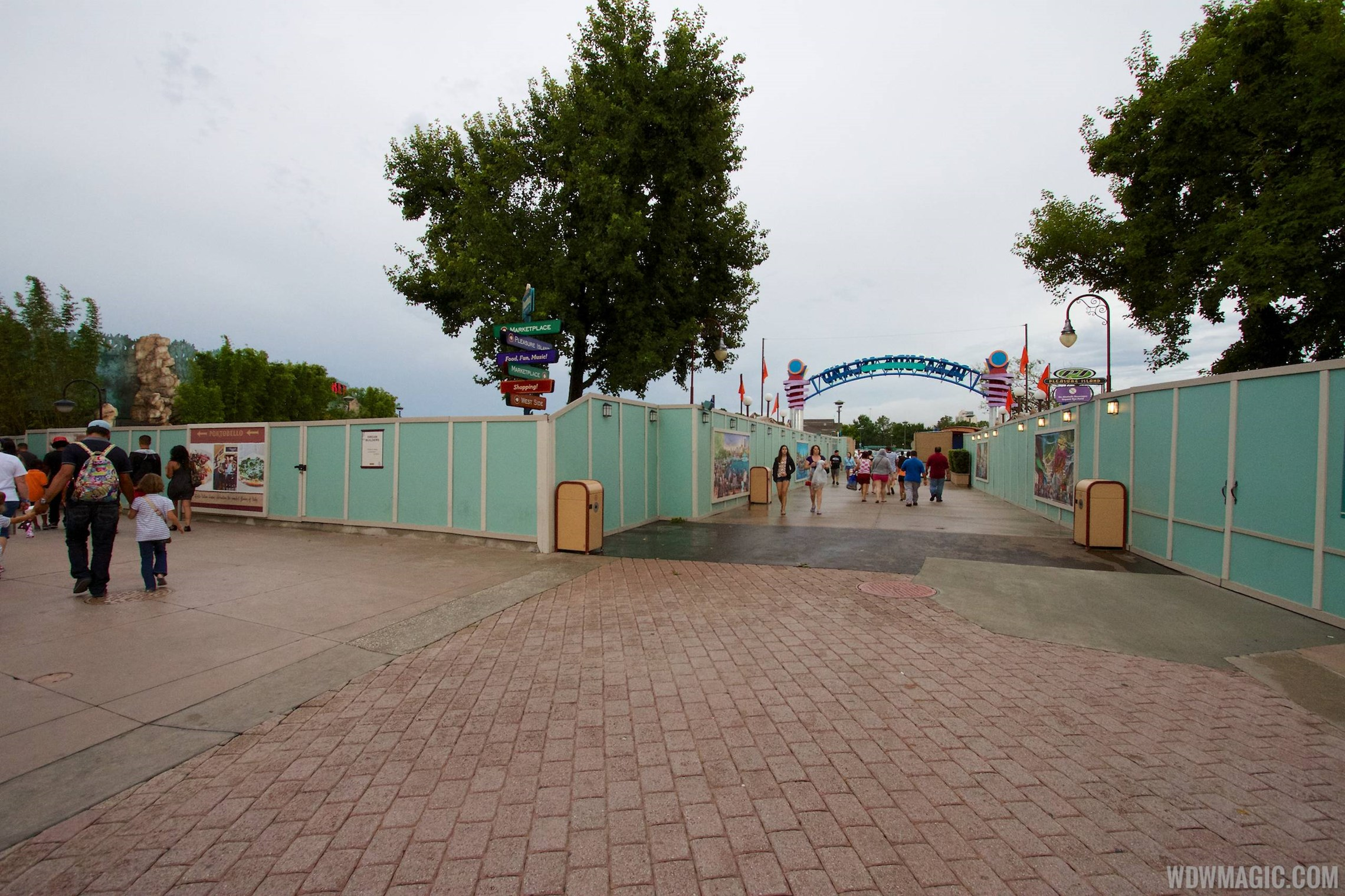 Waterway removal around Pleasure Island