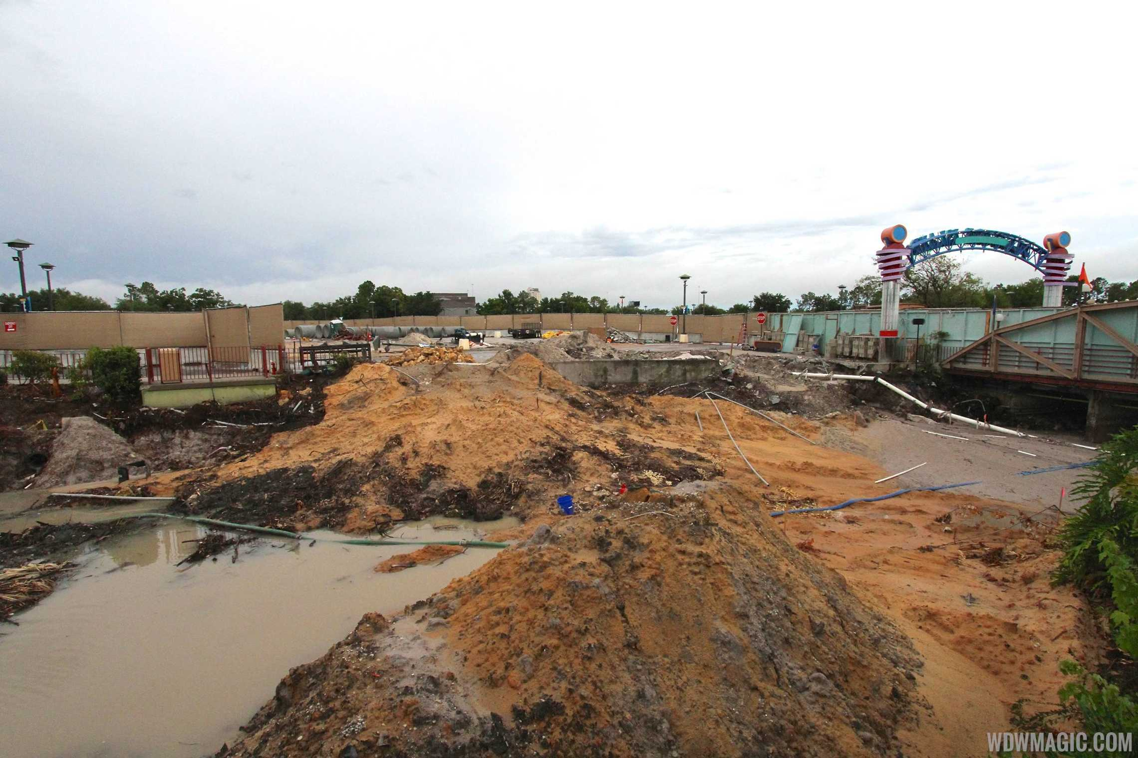 Waterway removal at Downtown Disney