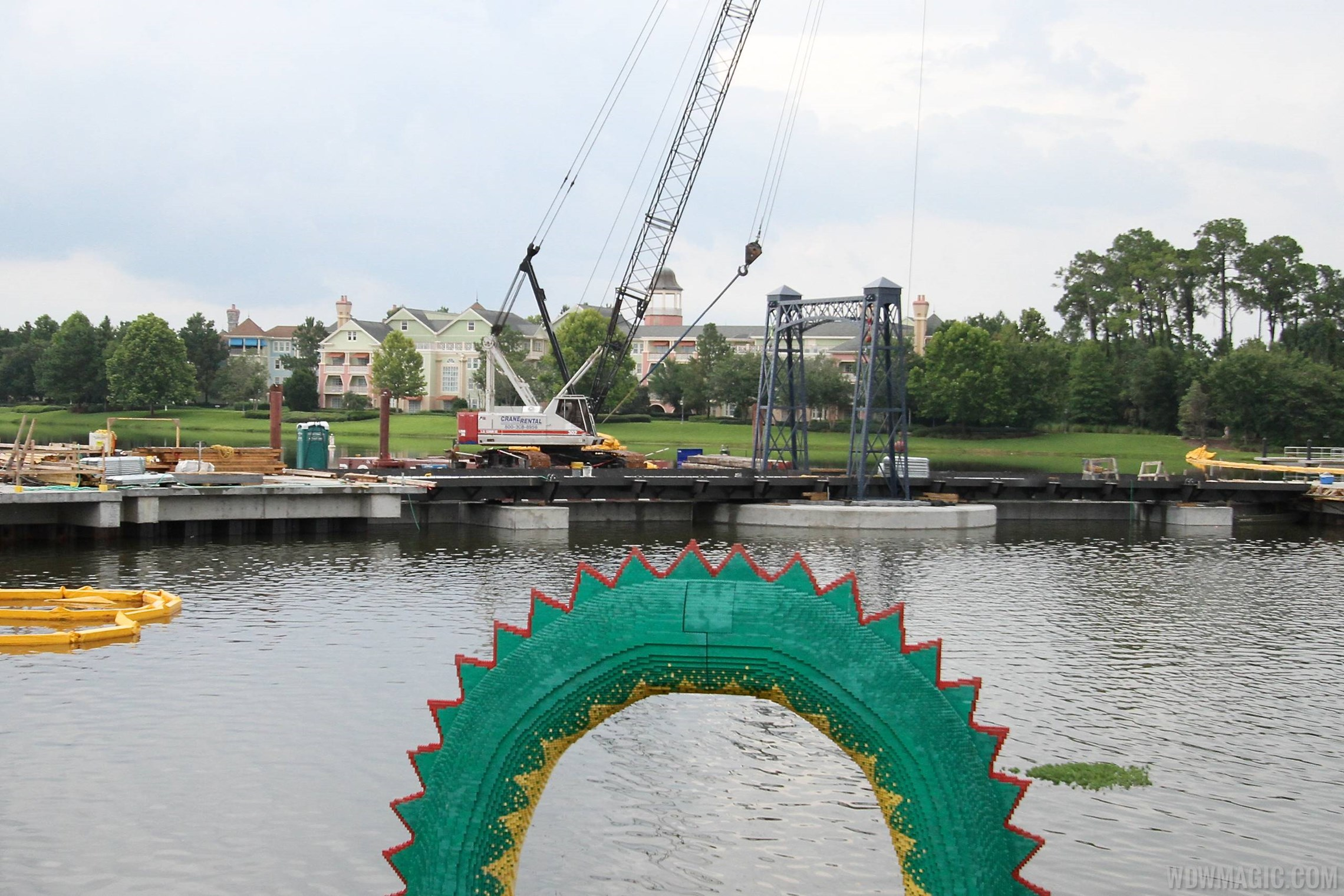 Marketplace Causeway construction and fountain