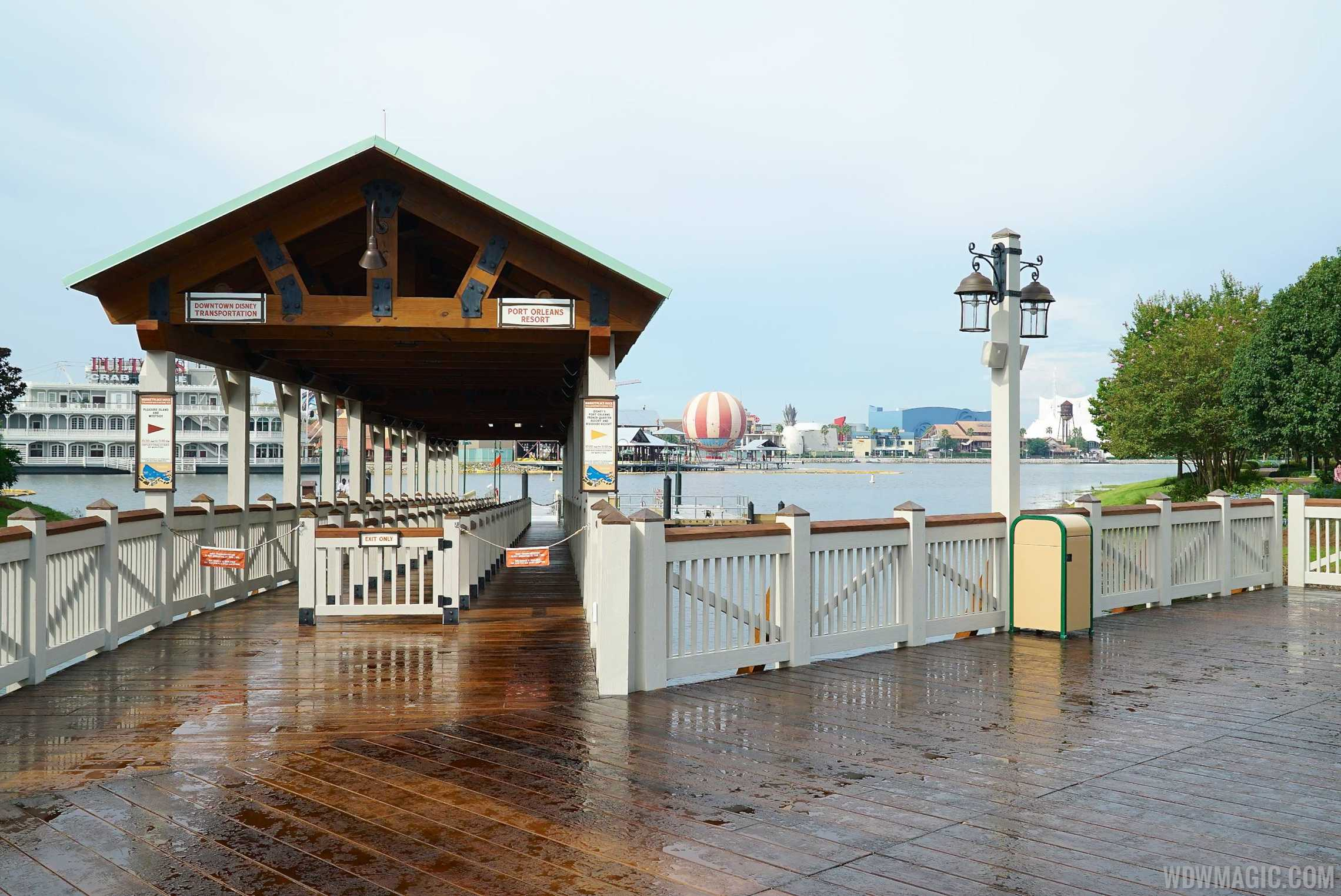 The Marketplace boat dock