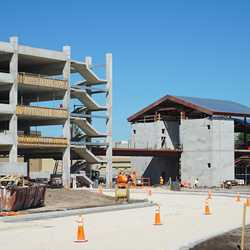Disney Springs West Side parking garage construction