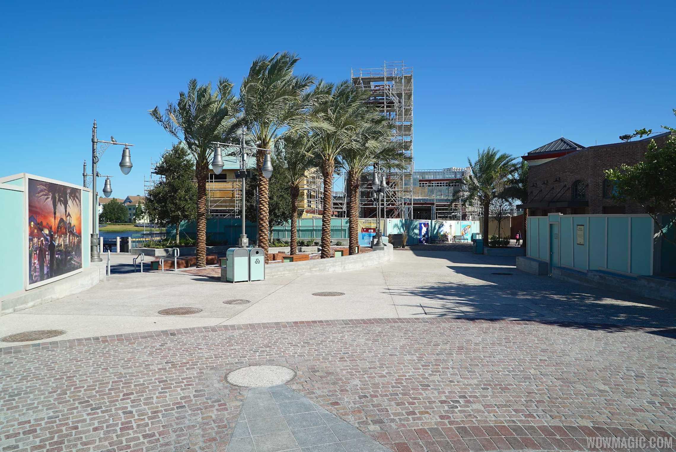 A wide shot of Waterside Park