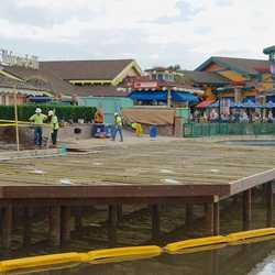 New Disney Springs Marketplace Margarita bar construction