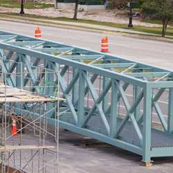 Buena Vista Drive pedestrian bridge construction