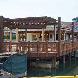 New Disney Springs Marketplace Margarita bar construction