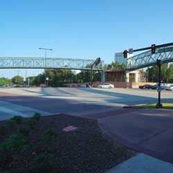 Second Buena Vista Drive pedestrian bridge construction