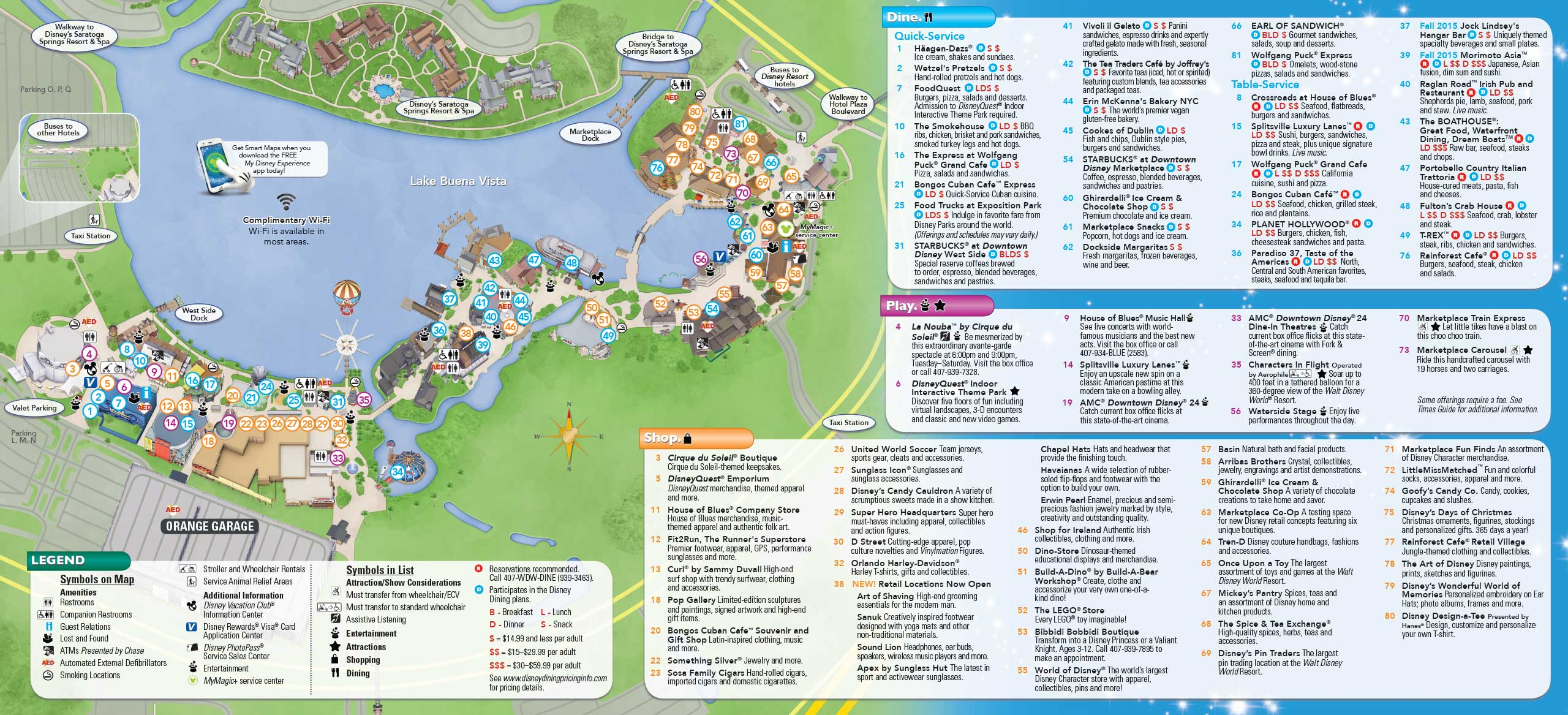 PHOTOS - New Downtown Disney guide map includes Disney Springs ...