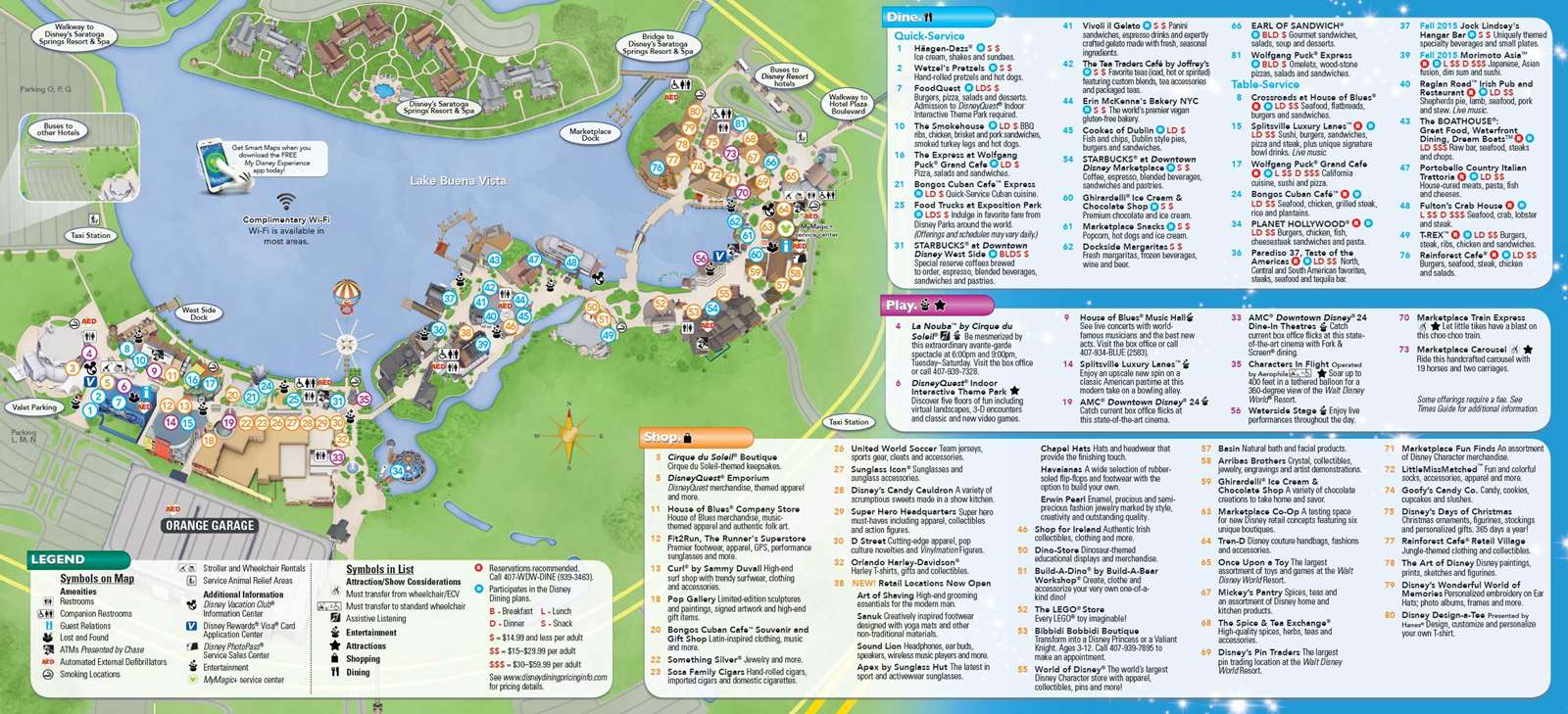 PHOTOS New Downtown Disney guide map includes Disney Springs