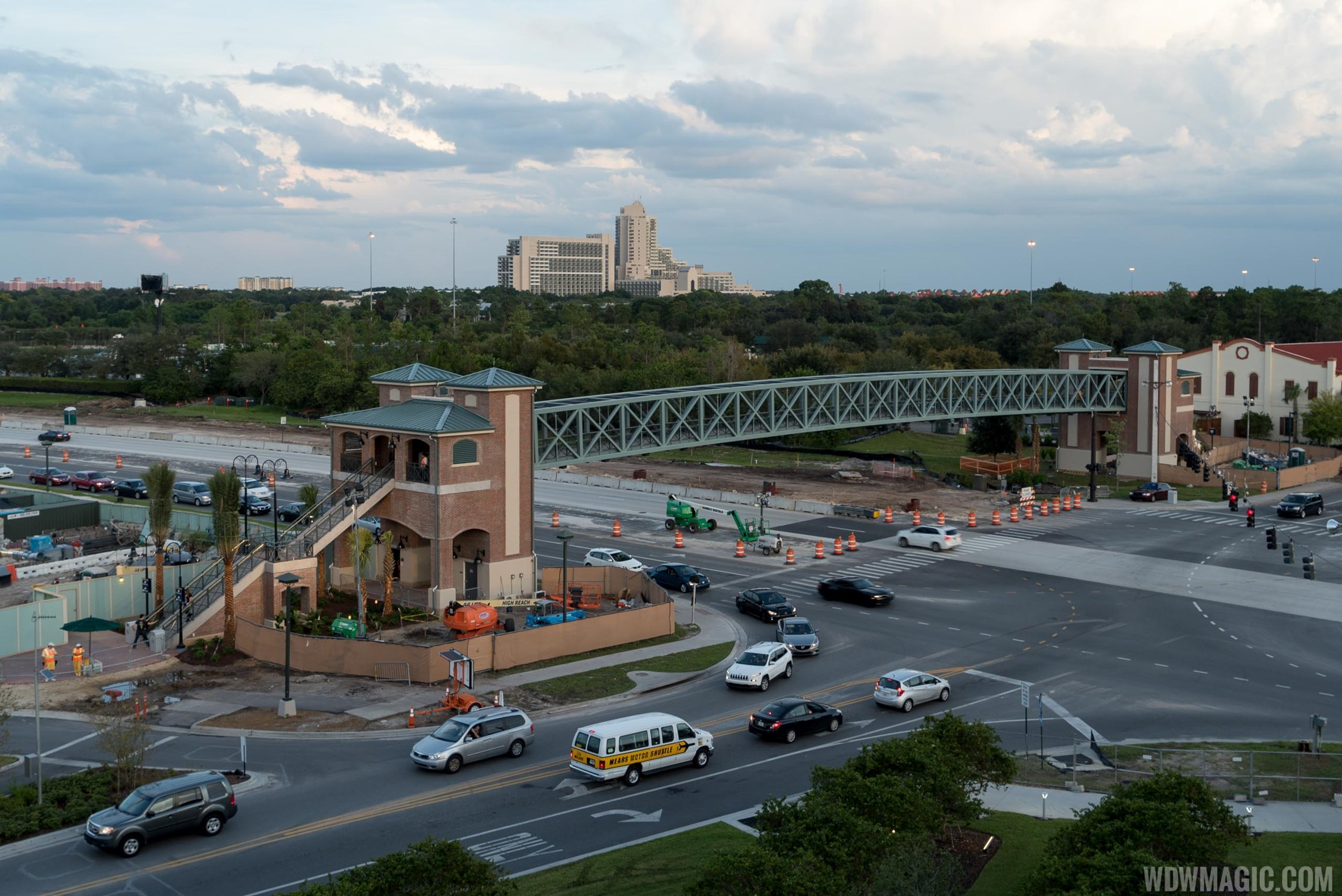 Disney Springs Buena Vista Drive Pedestrian Bridge soft open