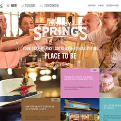 Disney Springs official website screenshot