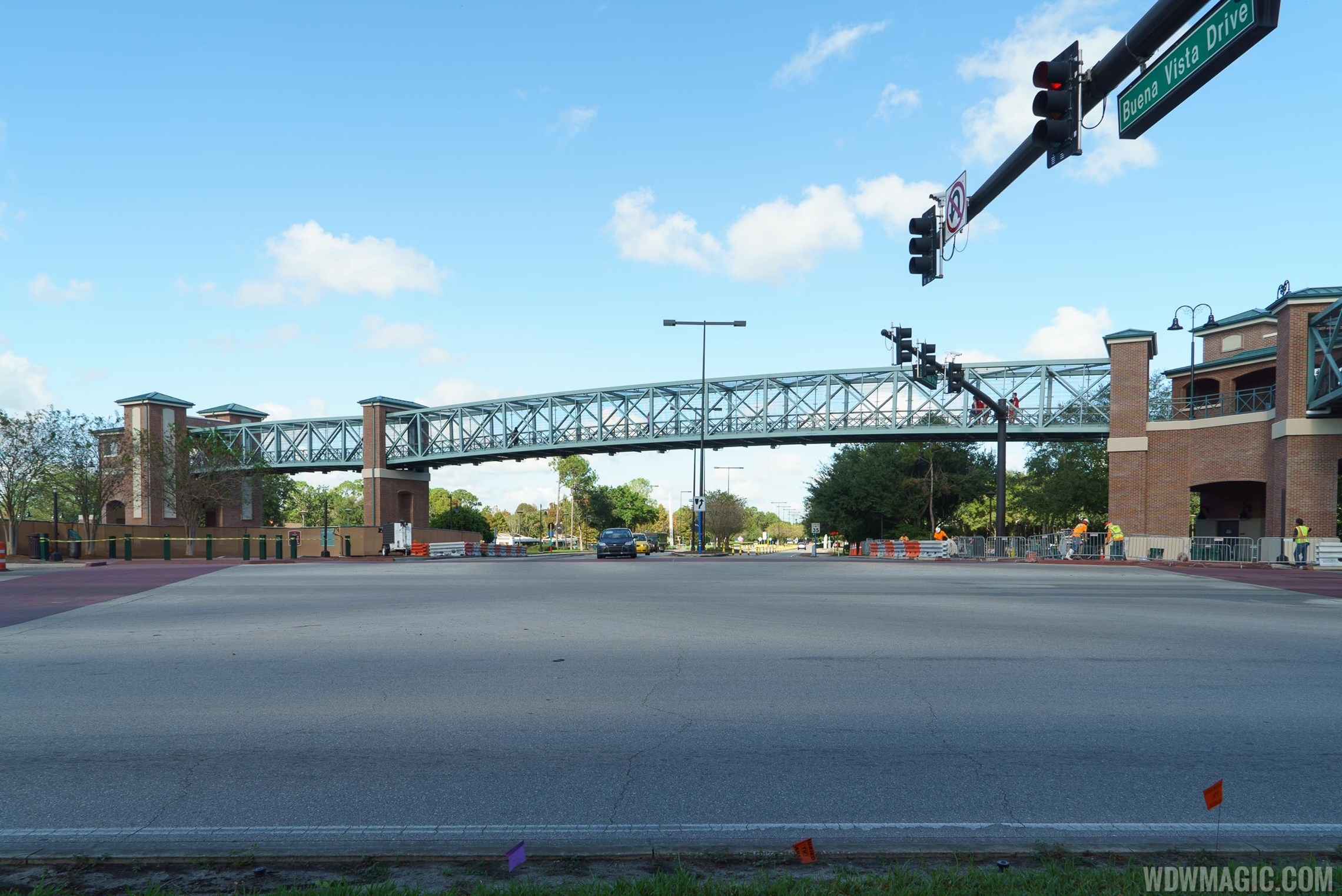 Second Disney Springs Buena Vista Drive pedestrian bridge completed