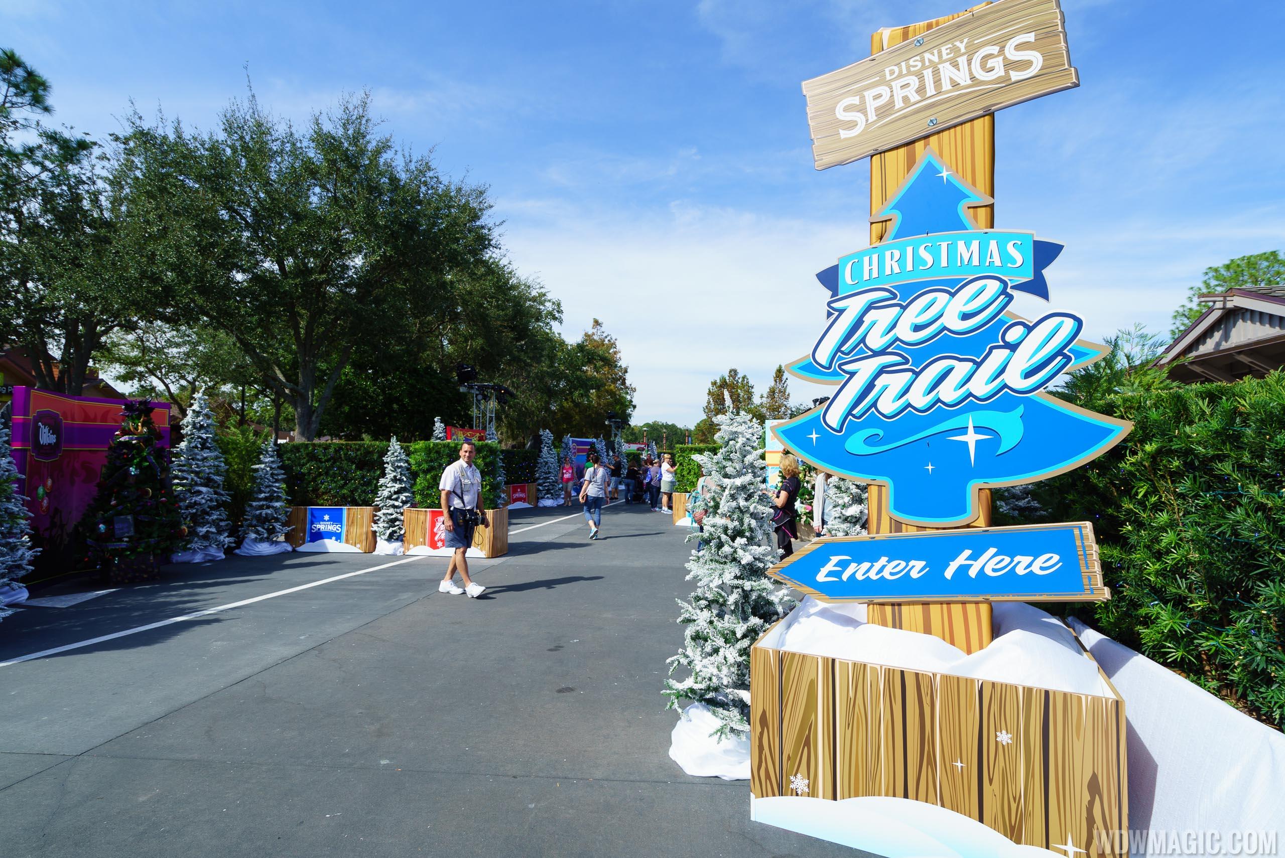 PHOTOS - Disney Springs Christmas Tree Trail now open