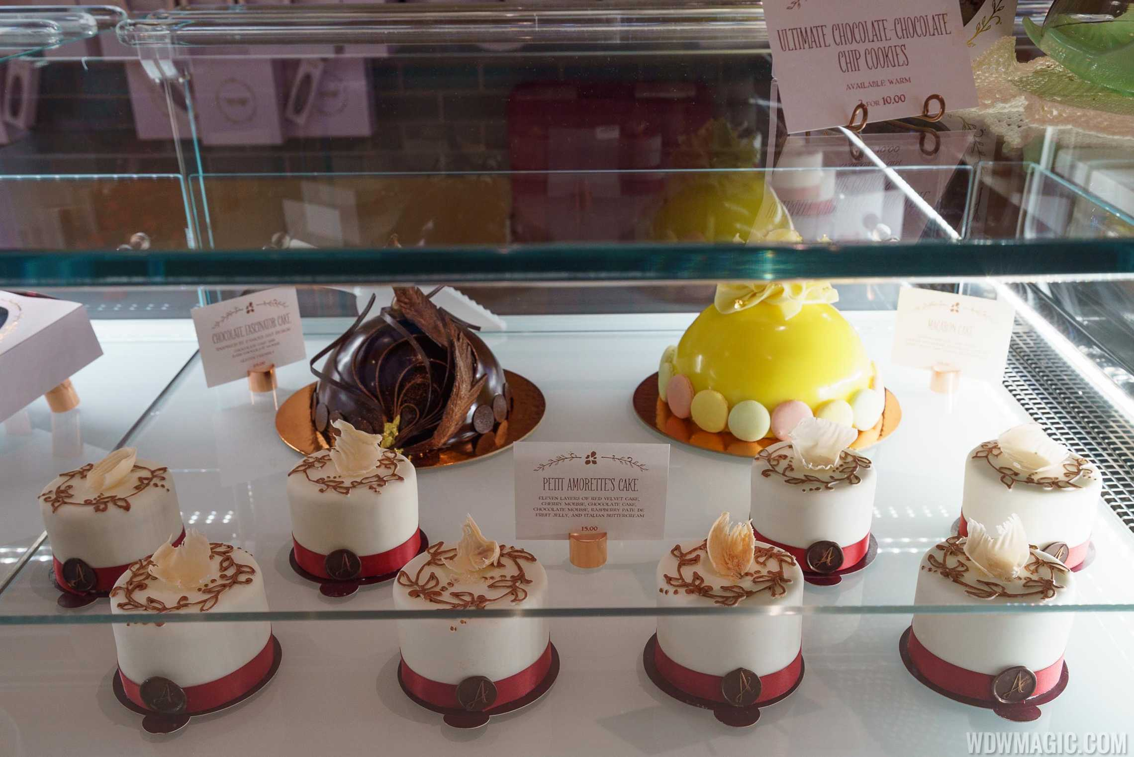 Amorette's Patisserie - Amorette's Cake display
