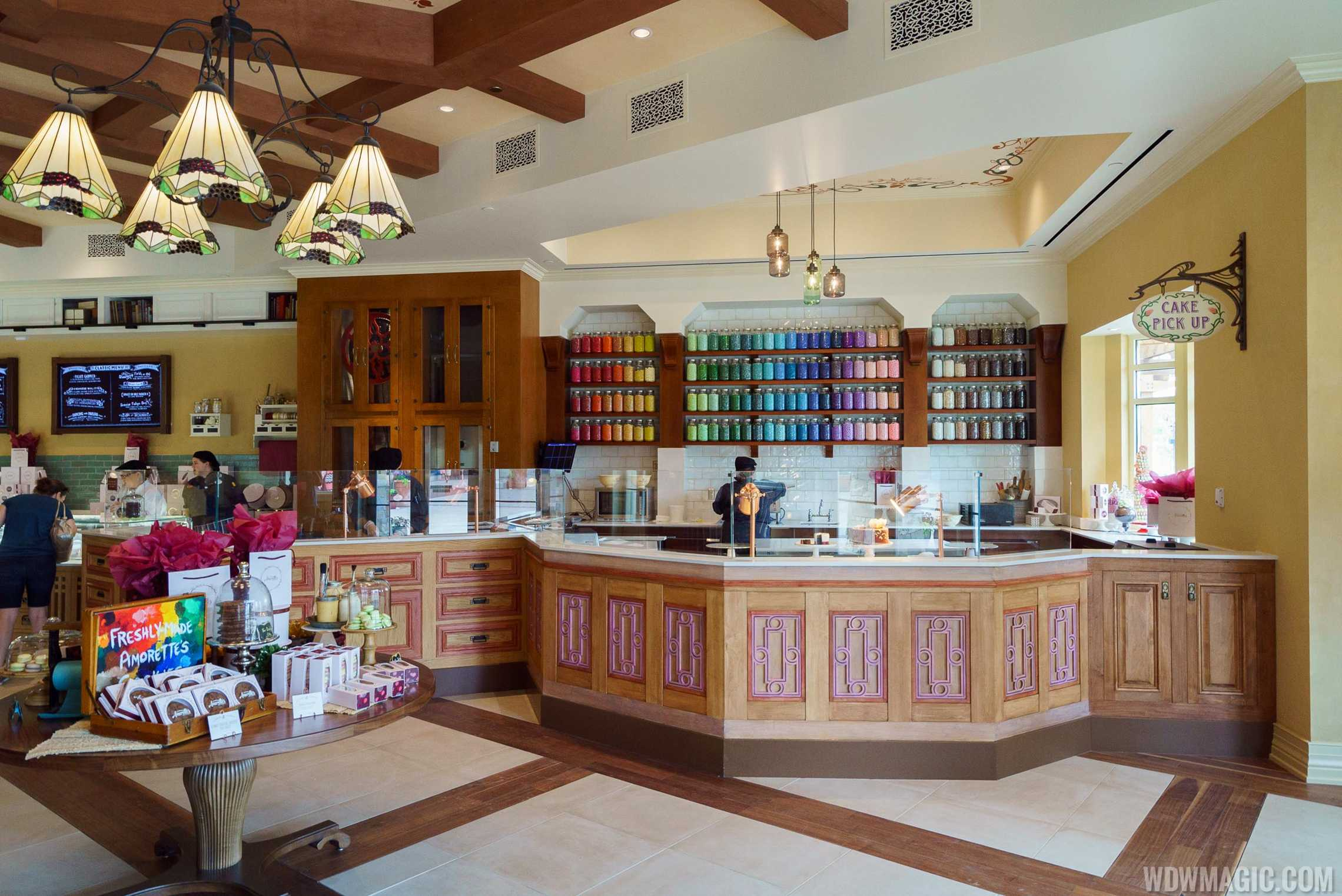 Amorette's Patisserie - Onstage kitchen and pickup area