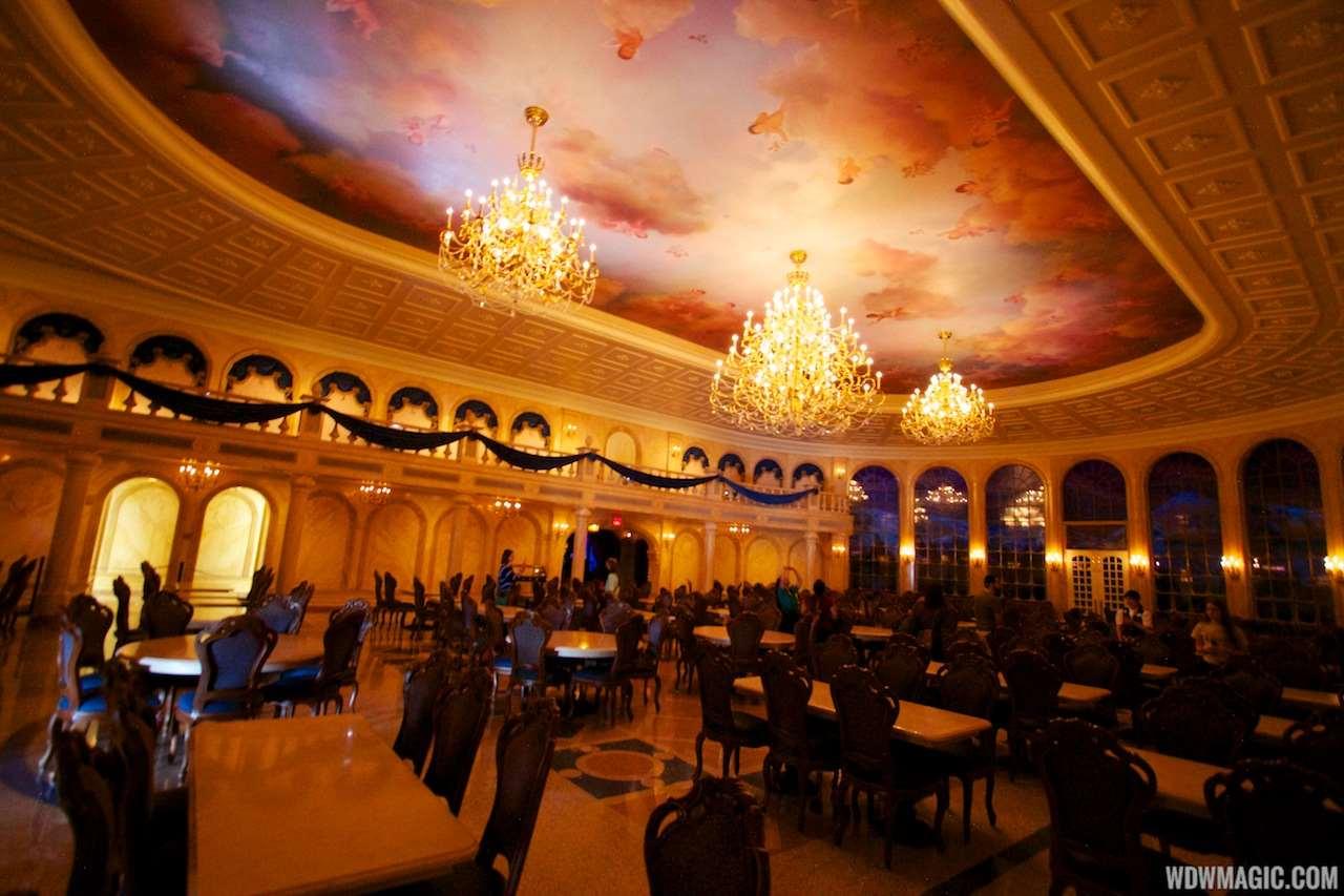 PHOTOS A Tour Inside Be Our Guest Restaurants Parlor Room West - Be our guest 20 stellar guest room design ideas
