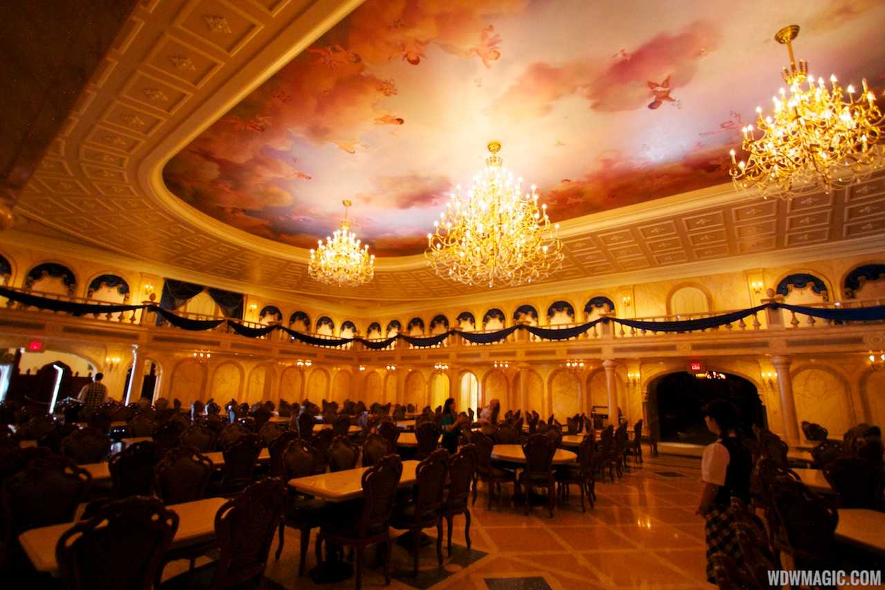 be our guest dining rooms | Inside Be Our Guest Restaurant dining rooms - Photo 18 of 19