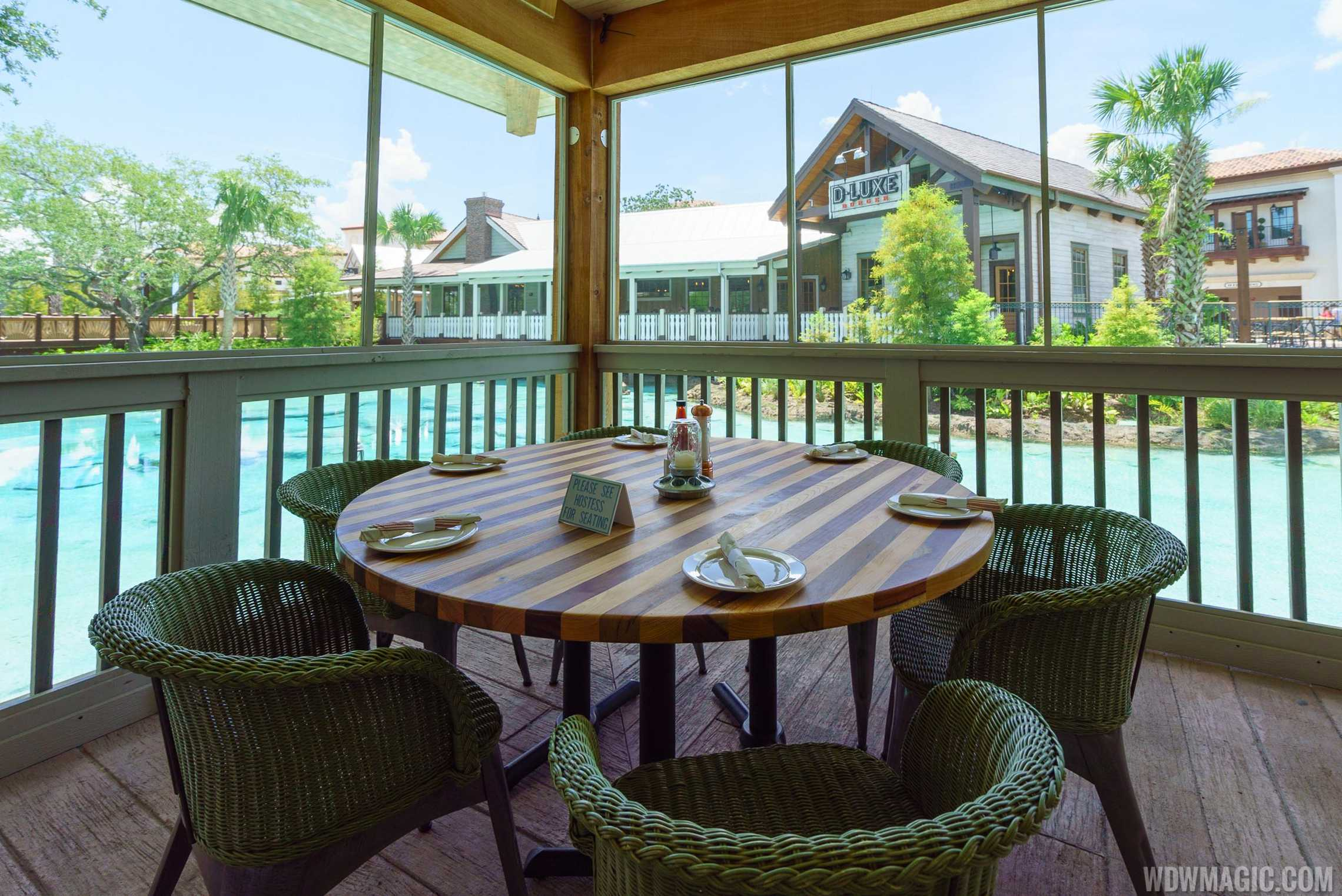 Homecoming: Florida Kitchen and Shine Bar outdoor seating with views of the spring