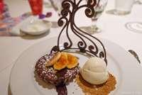 Warm Chocolate-Banana Torte