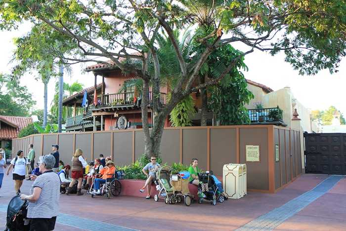 Walled off for refurbishment