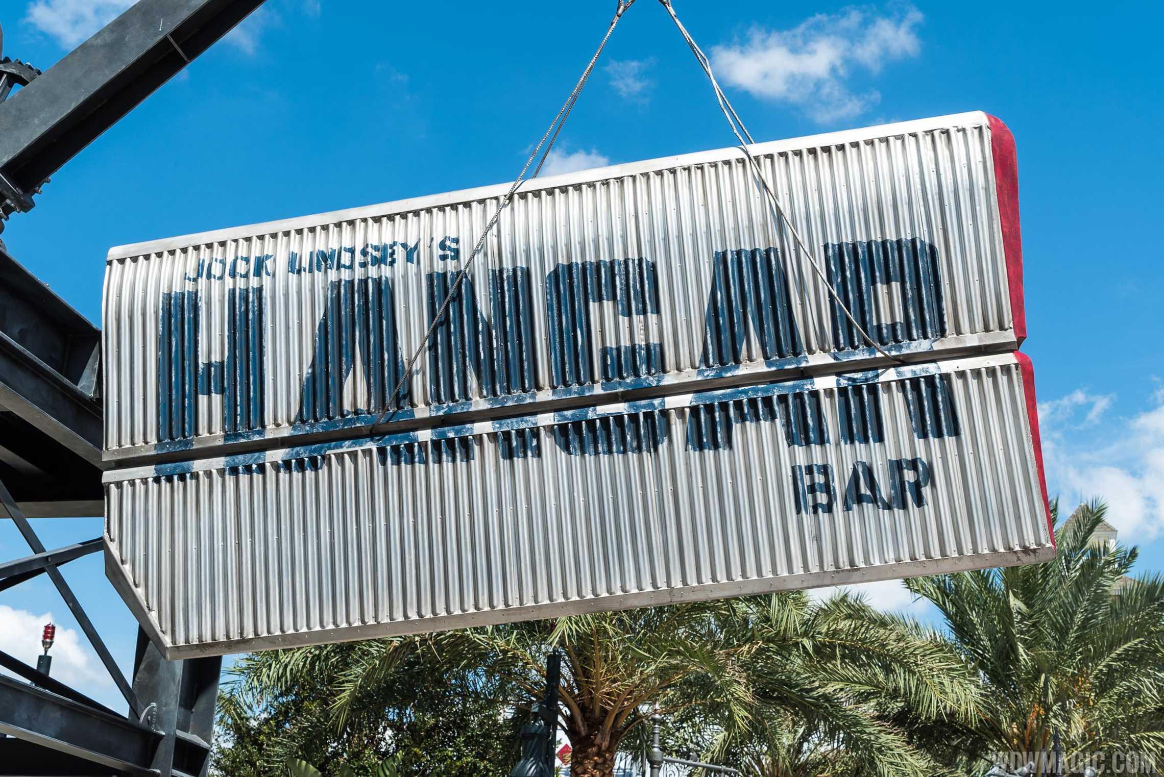 Jock Lindsey's Hangar Bar - Closeup of Signage