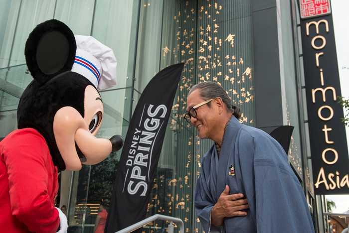 Iron Chef Morimoto and Mickey Mouse