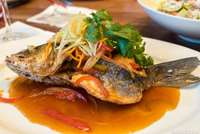 Sweet and Sour Crispy Branzino