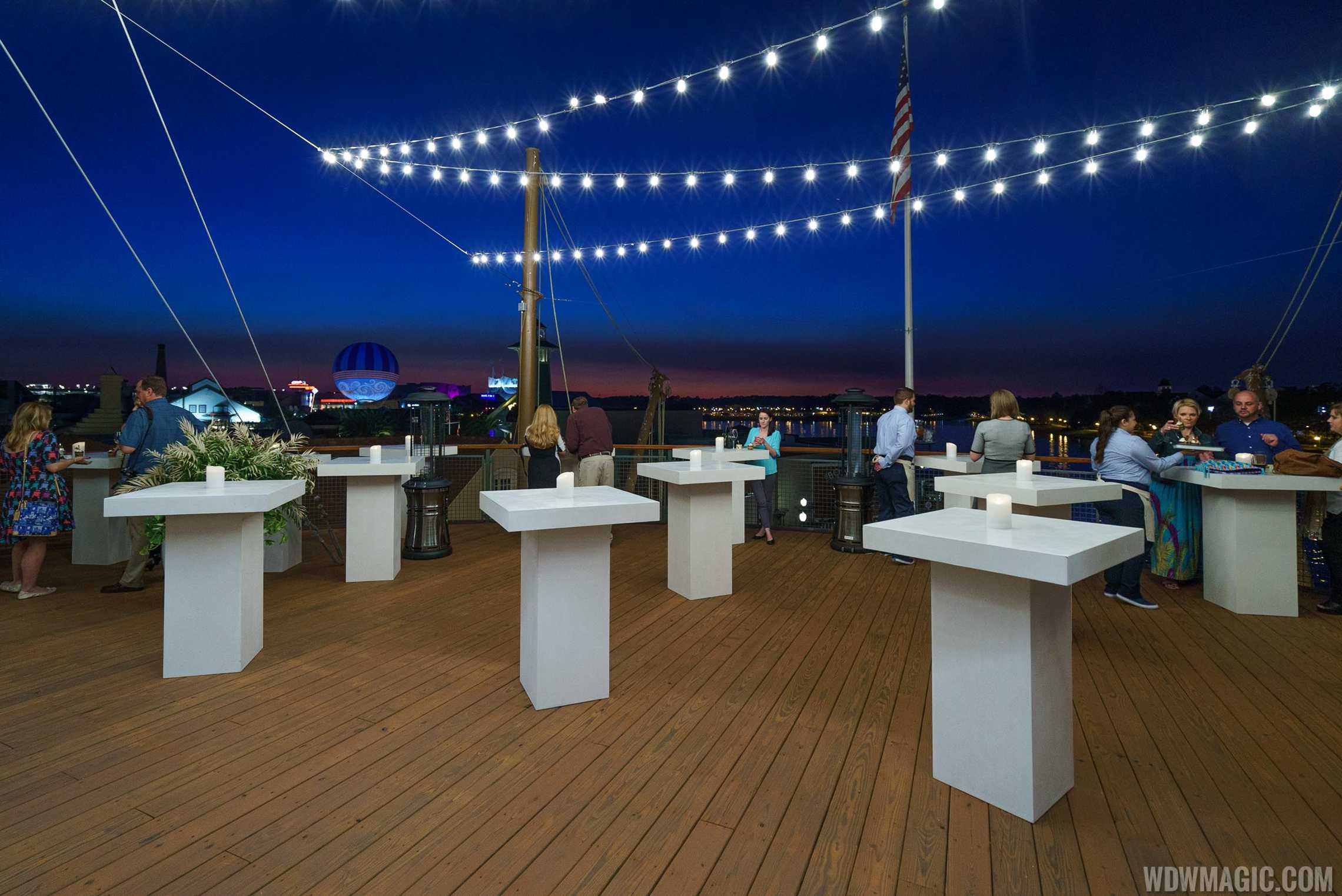 Paddlefish - Top deck view