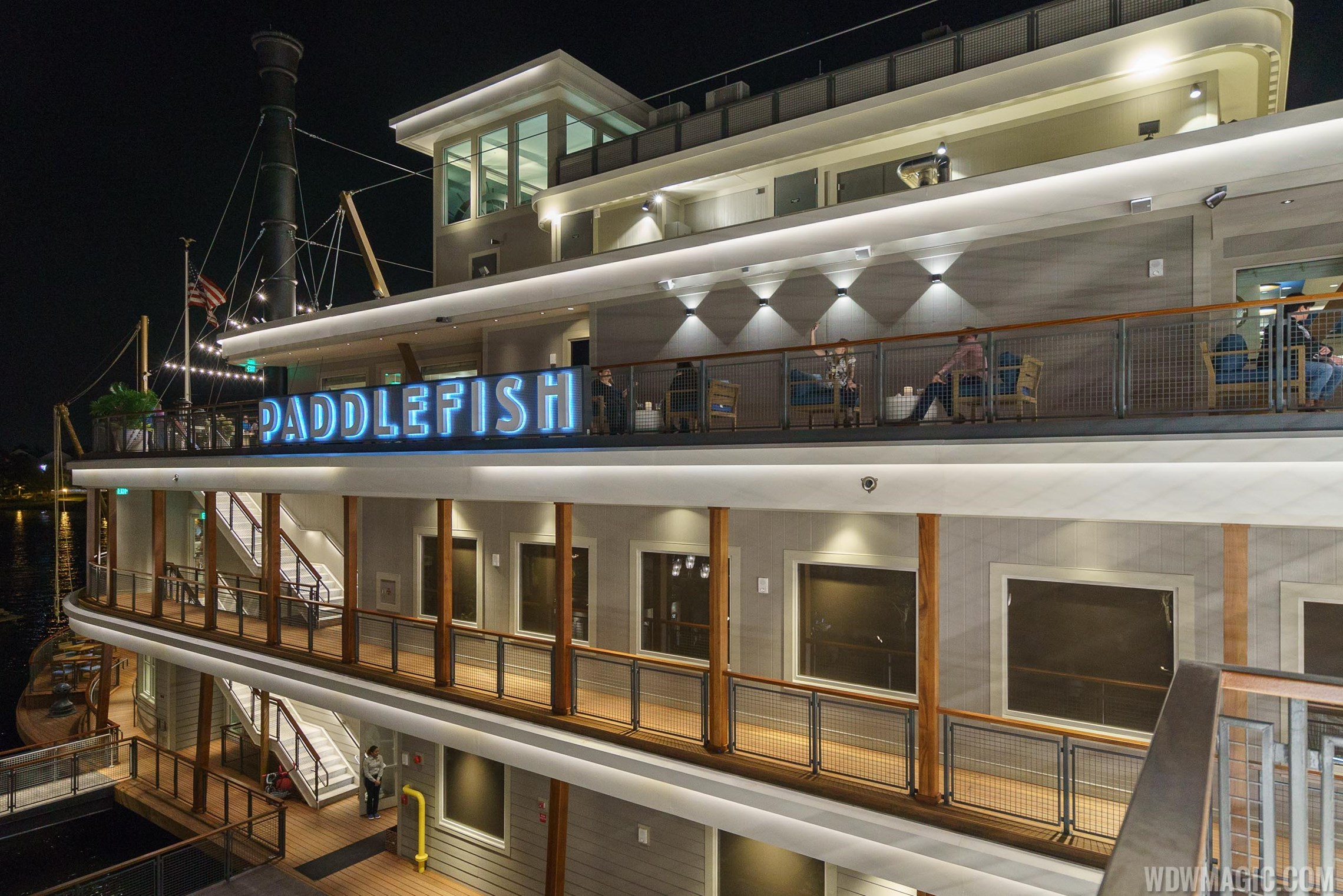 Modern exterior house colors - Photos Tour The New Paddlefish Restaurant Now Open At Disney