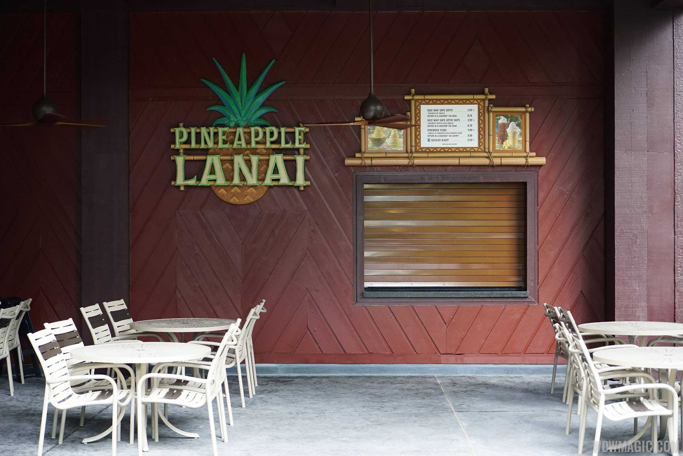 Pineapple Lanai kiosk and seating