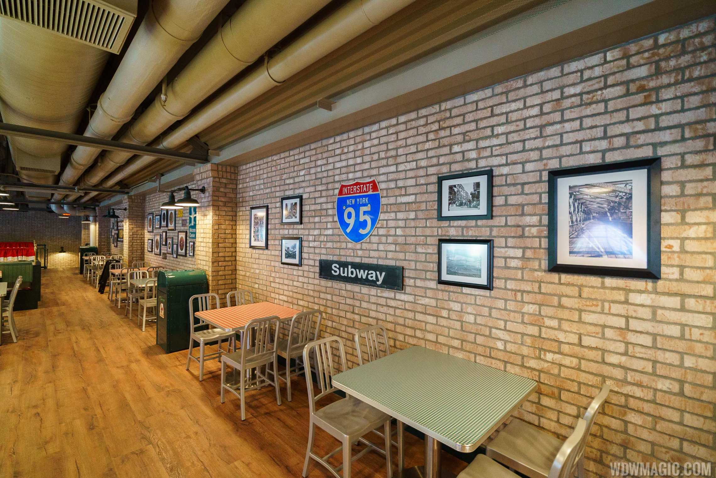 Inside PizzeRizzo - Upper level dining area