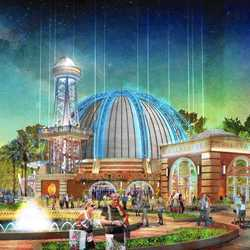 Concept art of the new-look Planet Hollywood Observatory