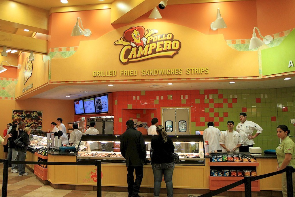 Inside Pollo Campero