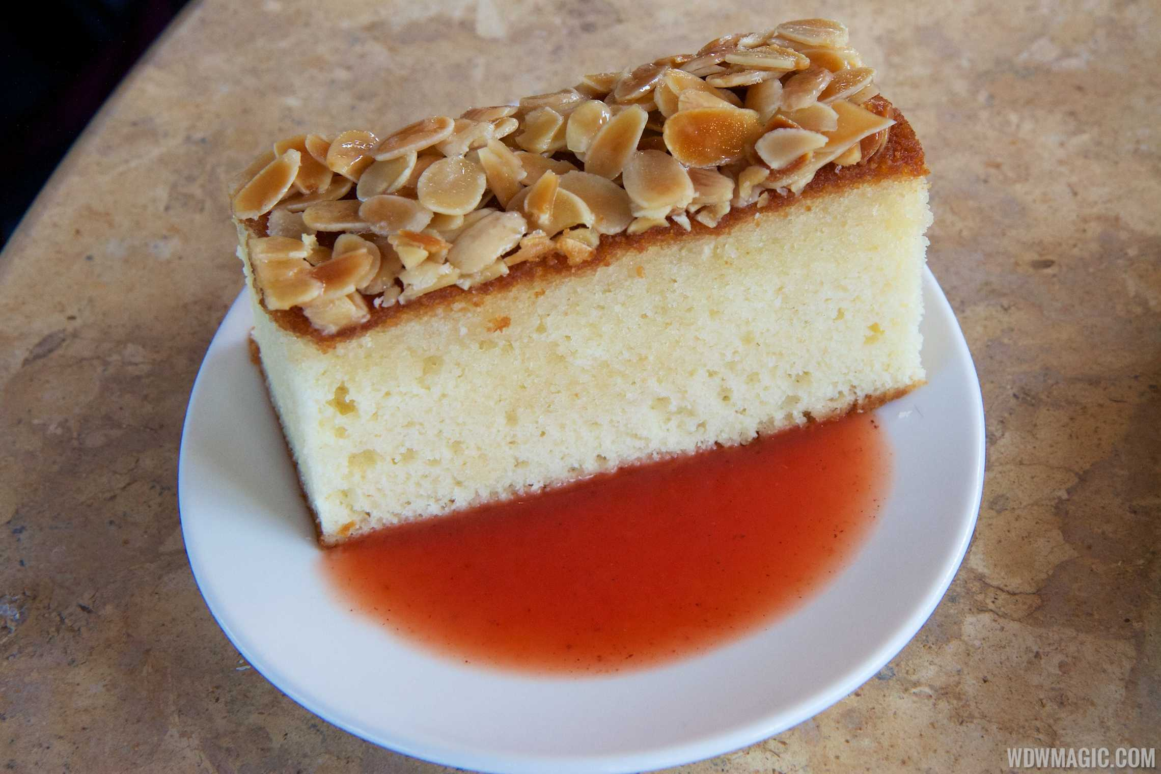 Spice Road Table - Almond and Rosewater Cake with blood orange sauce $7