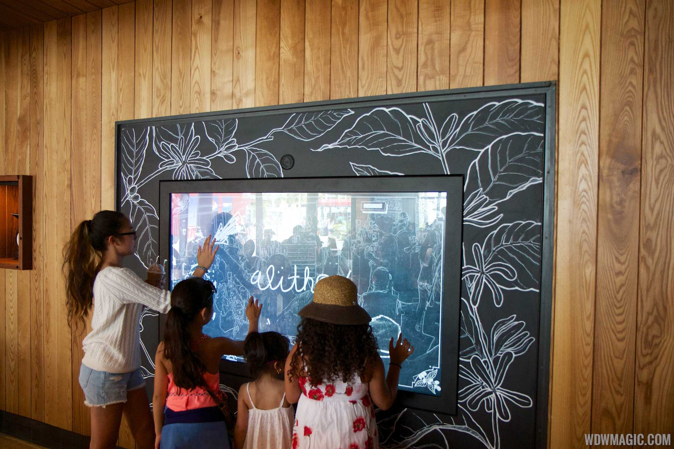 Touch screen panel linked to Disneyland