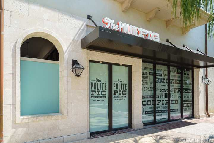 PHOTOS - Latest look at The Polite Pig in Disney Springs