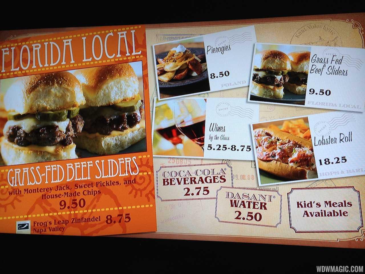 World Showcase of Flavors food truck menu