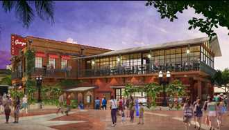 PHOTO - New concept art shows inside of Wine Bar George at Disney Springs