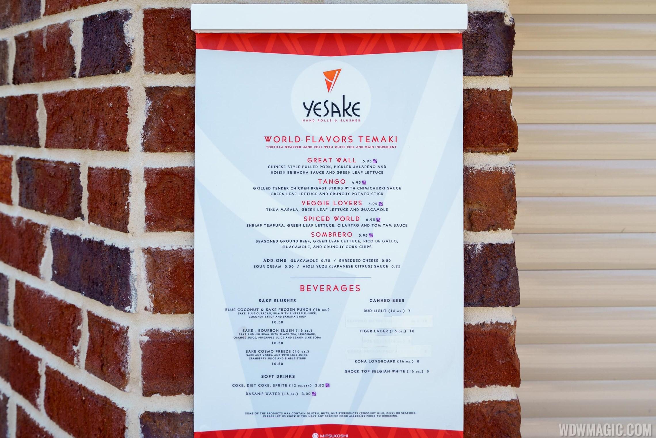 YeSake Hand Rolls and Slushes overview