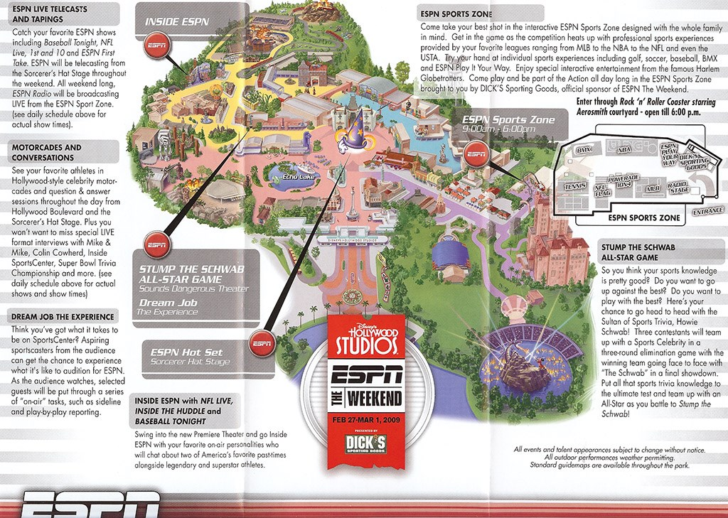 2009 ESPN The Weekend map