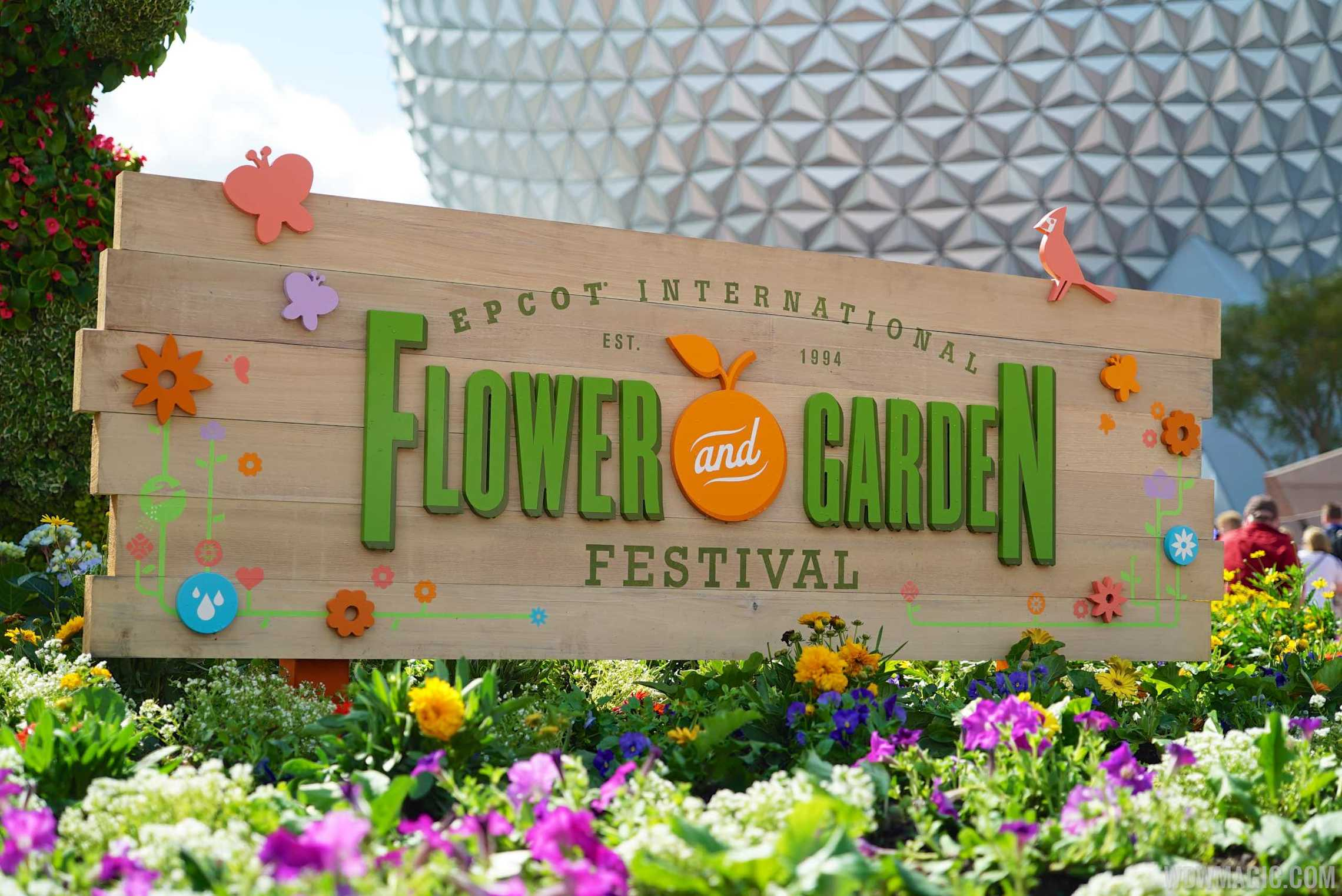 2015 Epcot Flower and Garden Festival - Main entrance sign