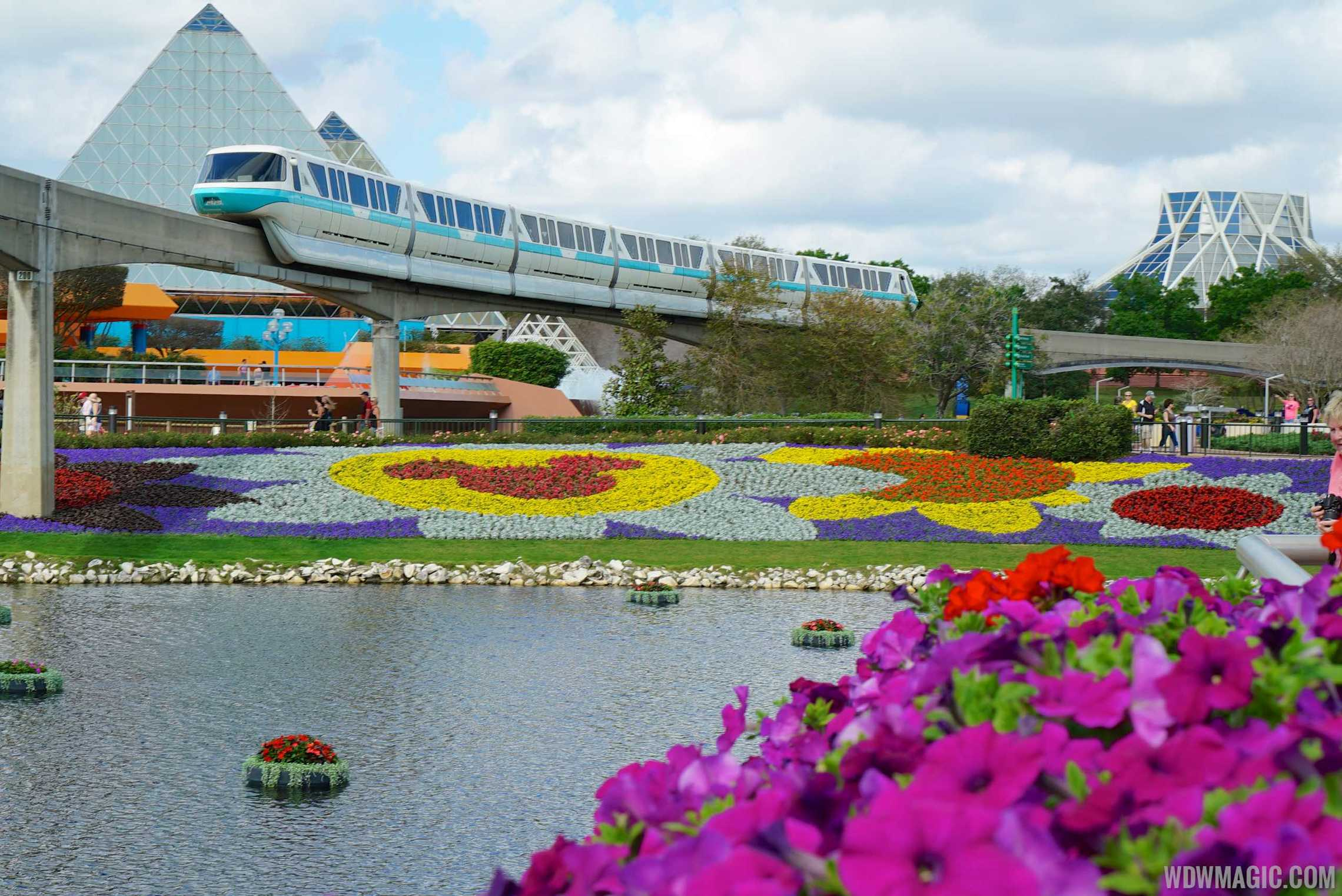 2015 Epcot Flower and Garden Festival - Monorail
