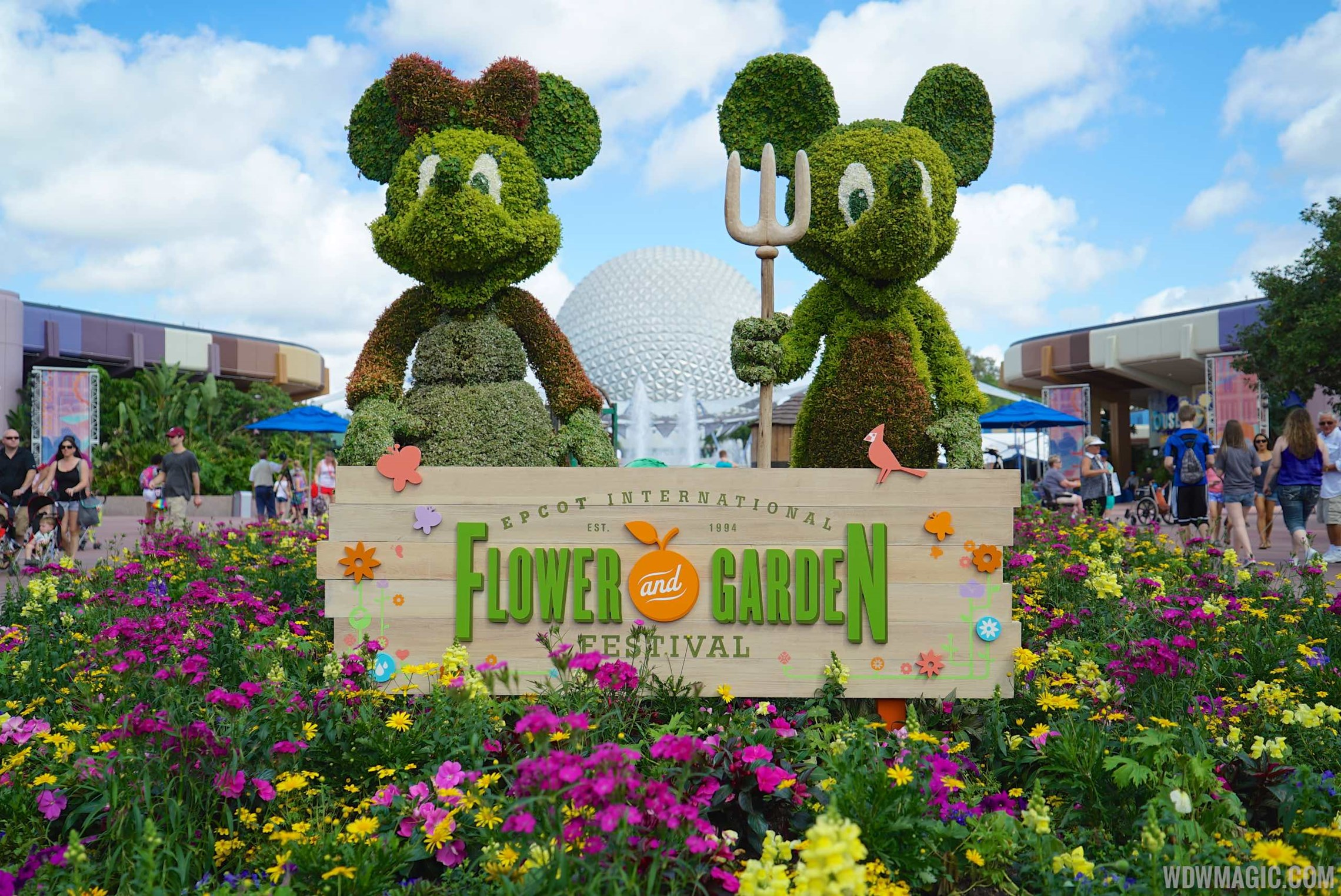 New Outdoor Kitchens and topiaries to join the 2017 Epcot International Flowe