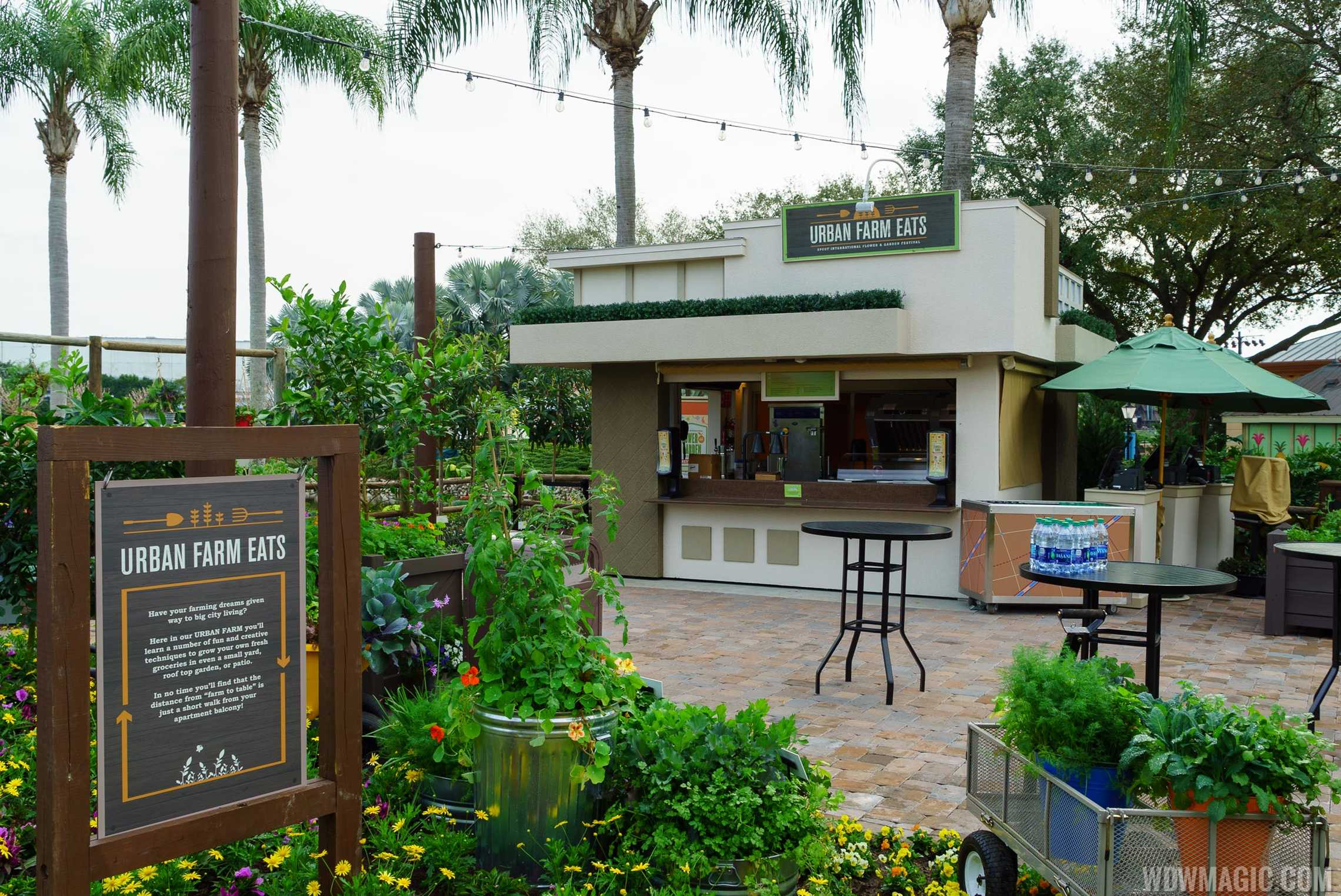2016 Epcot Flower and Garden Festival Outdoor Kitchen kiosks - Urban Farm East kiosk