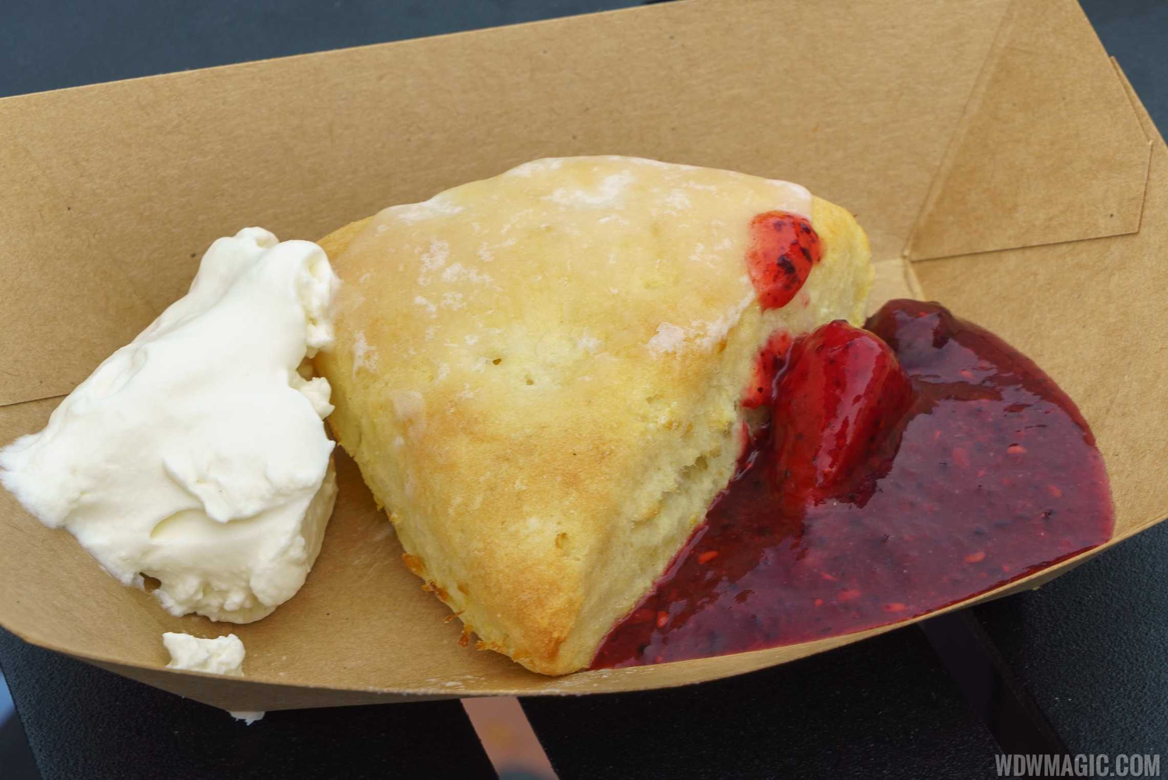 2016 Epcot Flower and Garden Festival Outdoor Kitchen - Cider House - Freshly Baked Lemon Scone $3.75