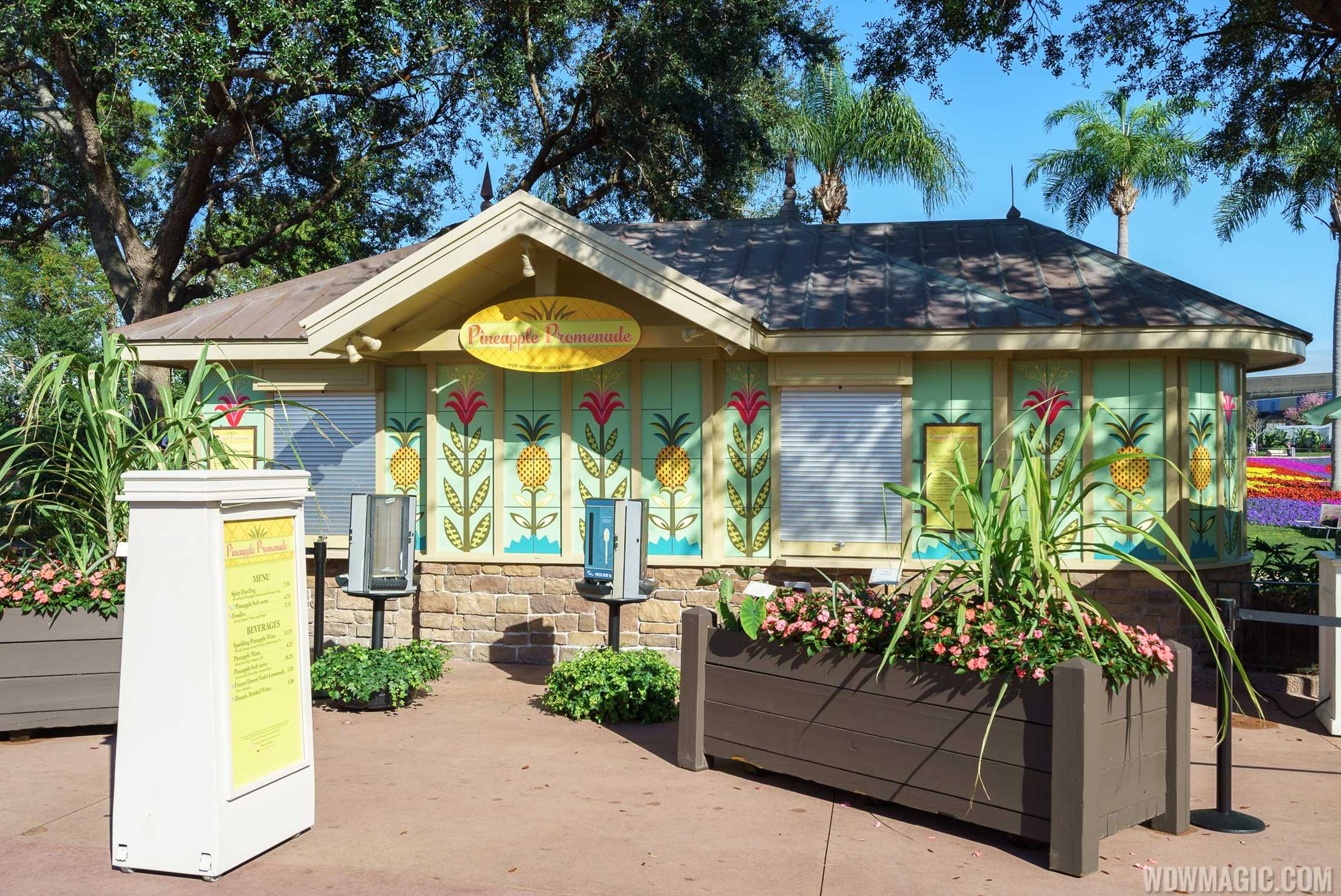 2017 Epcot Flower And Garden Festival Outdoor Kitchen Kiosks And Menus Photo 7 Of 25