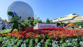 PHOTOS - Epcot's 2017 Christmas Holiday decorations