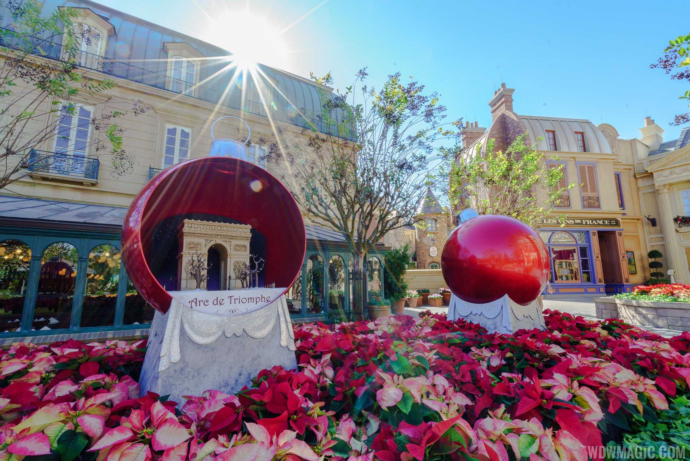 Christmas decorations in the France Pavilion